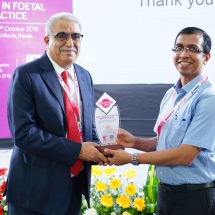 Dr K D Nayar was honoured at Foetomed conference Organised by IFS Kerala Chapter